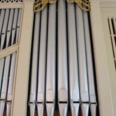 Kirche Langenstriegis Detail Orgel
